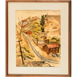 Walnut Creek Watercolor Painting