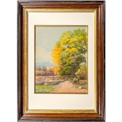"""""""Turn of Autumn, Reno,"""" Watercolor Painting by Minerva Pierce"""