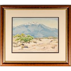 Watercolor Painting of Reno area