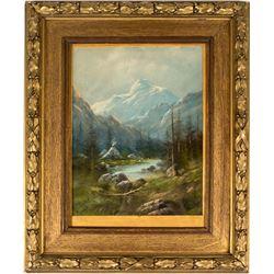 Mount Moran Pastel Painting