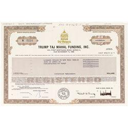"""Donald Trump's """"Trump Taj Mahal"""" First Mortgage Bond"""