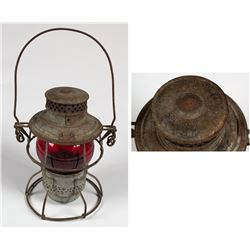 Railroad Lamp with Embossed Top CMSP&P RR