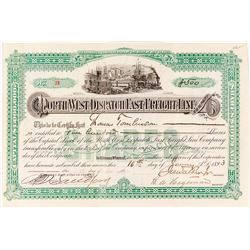 Northwest Dispatch Fast Freight Company Stock Certificate