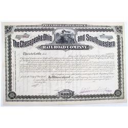 Railroad Tycoon Collis P. Huntington Signature on Stock Certificate