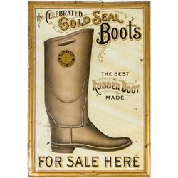 Gold Seal Rubber Boots Tin Sign