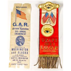 Two Ribbons: Oddfellows and GAR
