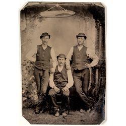 Tintype of Three Western Gents