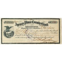 Rare Check signed by Madame LeTang of Tombstone (Brothel)