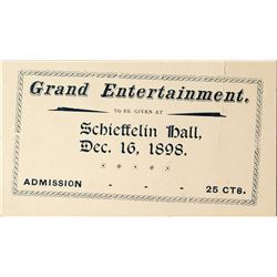 Schieffelin Hall Grand Entertainment Ticket