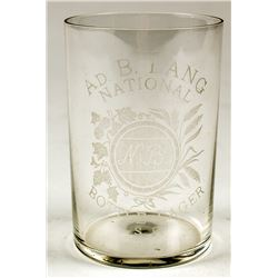 Ad. B. Lang, National Bottle Lager Glass