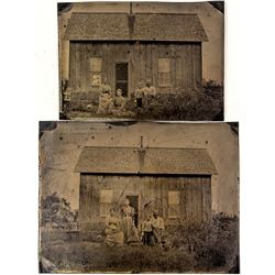 Frank Adams Half & Quarter Plate Tin Photographs (Volcano, California)