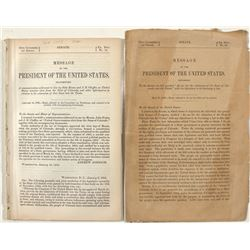 Two Executive Documents from President Andrew Johnson About Colorado Statehood