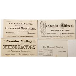 Four Kansas Business Cards