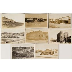 Eight Original Nevada Photo Postcards