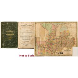 1839 Pocket Map: Western Tourist and Emigrant's Guide (Colton)