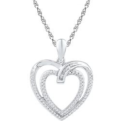 Genuine 0.25 CTW Diamond Pendant 10KT White Gold - GD108564-REF#30Z4T