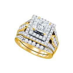 Natural 2.38 ctw Diamond Bridal Ring 14K Yellow Gold - GD67263-REF#539F8M
