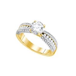 Natural 1.0 ctw Diamond Bridal Ring 14K Yellow Gold - GD70308-REF#179F9M
