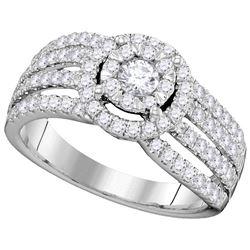 Genuine 1 CTW Diamond Bridal Ring 14KT White Gold - GD104740-REF#152N8S