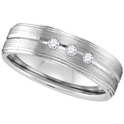 Genuine 0.30 CTW Diamond Men's Ring 10KT White Gold - GD109604-REF#45M2F