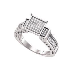 Genuine 0.25 CTW Diamond Ladies Ring White Rhodium Silver - GD64412-REF#22N3S