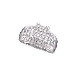 Genuine 1 CTW Diamond Ladies Ring 10KT White Gold - GD68258-REF#71S9V
