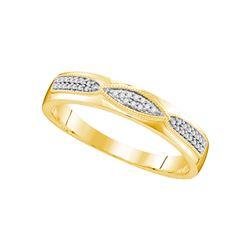 Genuine 0.25 CTW Diamond Trio Set Ring 10KT Yellow Gold - GD108213-REF#50H3W