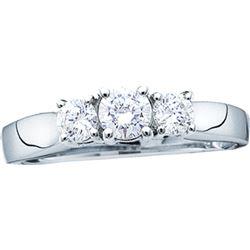 Genuine 1 CTW Diamond Ladies Ring 14KT White Gold - GD11495-REF#143F8N