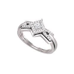 Natural 0.25 ctw Diamond Bridal Set Ring 10K White Gold - GD81242-REF#45F2M