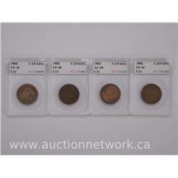 4x 'Edward' Large 1 Cent Coins (EC) 1903, 1904, 1905, 1906 (VF-EF-AU) 'ACG' (ATTN: 4 times the bid p