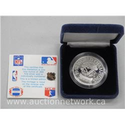 .9999 Fine Silver Blue Jays Coin 1992 World Series Champions.