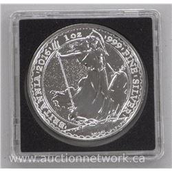 .9999 Fine Silver 1 ounce Coin: Britannia 2016