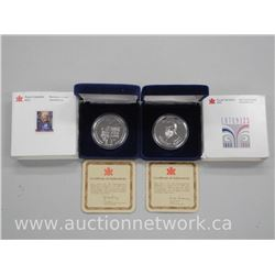 2x Royal Canadian Mint .9999 Fine Pure Silver $50.00 Gift Medallion - T. Eaton Co. One Troy Ounce. (