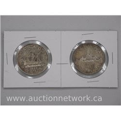 2x Canada Silver Dollar Coin 1949-1959 (ATTN: 2 Times the bid price)