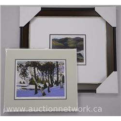 """Franklin Carmichael"" 1890-1945 Studio Litho ""Mirror Lake"" (17x22"" Framed) and Tom Thomson 1877-1917"