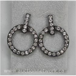 Ladies 'Atelier' by MM Crystal - Designer Earring 50 Round Swarovski Elements = 10.00ct. Box and Cer