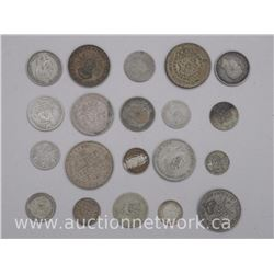20x Silver Coins, Mixed Purities and Countries .800-.925 (ATTN: 20 Times the bid price)