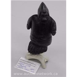 Original Stone Carving by 'Simon Uttaq' of 'Taloyoak' Circa 2000 'Walrus Spirit' Gallery: $1500.00.