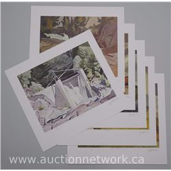 6x A.J. Casson (1898-1992) Casson Casson Litho's 11x13 Unframed. Embossed - 'APPROVED A.J. CASSON' M