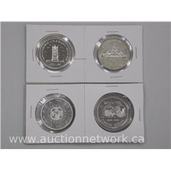 4x Canada Silver Dollar Coins: 1957, 1977, 1964 and 1974 (ATTN:4 Times the bid price)