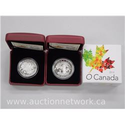 2x .9999 Fine Silver Royal Canadian Mint Collector Coins 'Maple Tree' Limited Edition with Cert (ATT