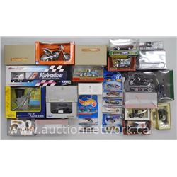 28x Die Cast Vechiles Corgi, Matchbox, Lledo, Hot Wheels, Harley etc. Pristine Boxes. (ATTN: 28 Time