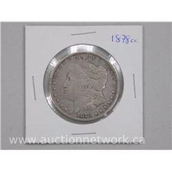1878 - CC USA Silver Morgan Dollar Coin (F)