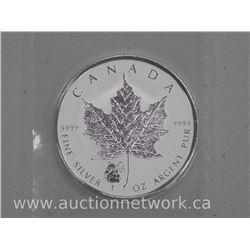 .9999 Fine Silver Maple Leaf $5.00 Bullion with 'Panda Privy'