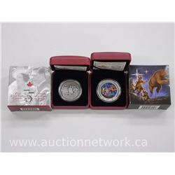 2x .9999 Fine Silver Royal Canadian Mint Collector Coins 'The Great Ascent' and 'The Royal Visit' (A
