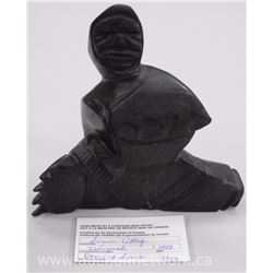 Original Stone Carving by Inuk Artist - 'Simon Uttaq' C1992 'Dancing Shaman' Gallery: $1150.00. Size