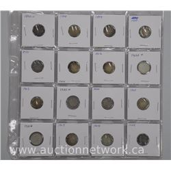 16x Canada Silver 10 Cent Coins: 1890s-Early 1900s (ATTN: 16 Times the bid price)