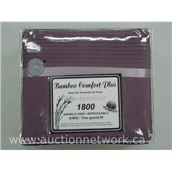 Bamboo Comfort 1800 KING - Sheet Set -MSR: $199.00