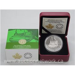 "2015 .9999 Fine Silver $20.00 Proof Coin ""Canada's First Submarine During The First World War"", Limi"