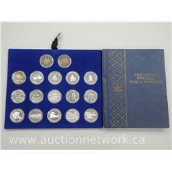 17x Canada Silver Dollar Coins with Whitman Album (ATTN: 17 times the bid price)
